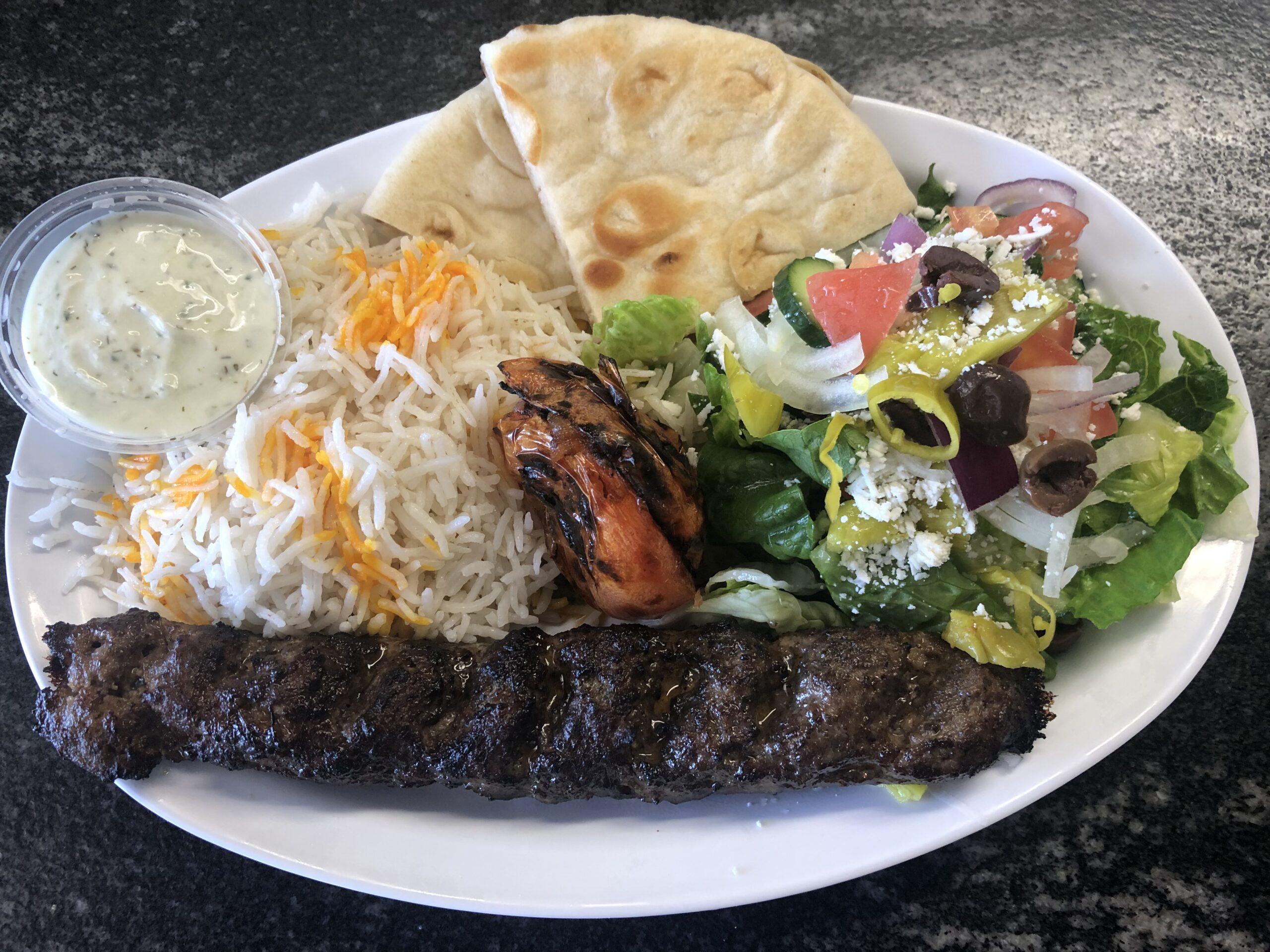 beef kebab plate