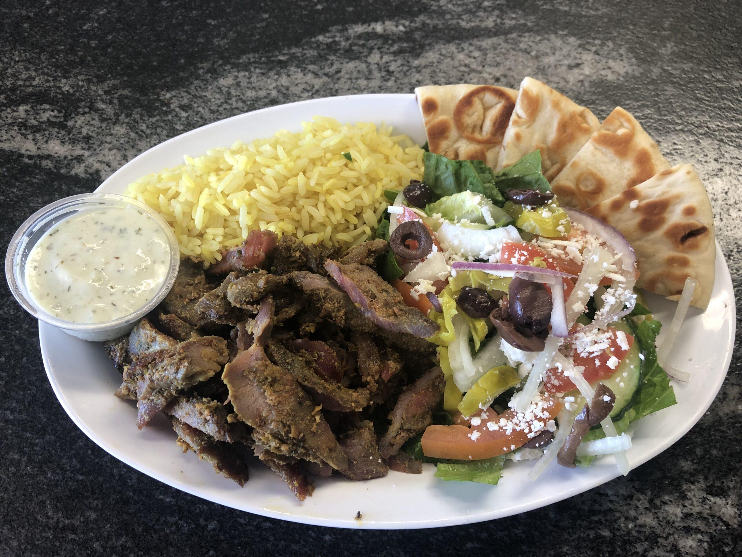 beef shwarma platter